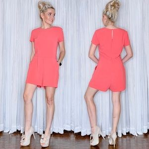 Banana Republic Coral Pink Shorts Romper